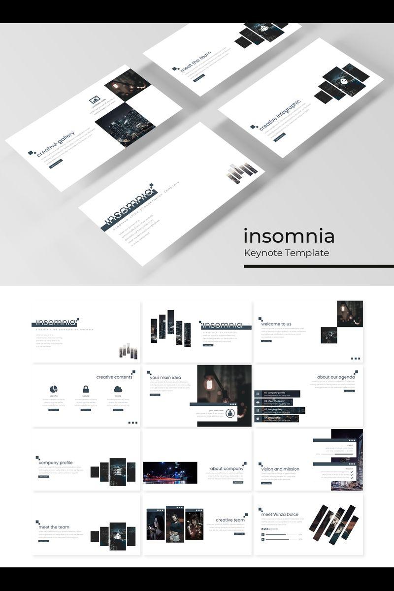 """Šablona pro Keynote """"Insomnia"""" #89410"""
