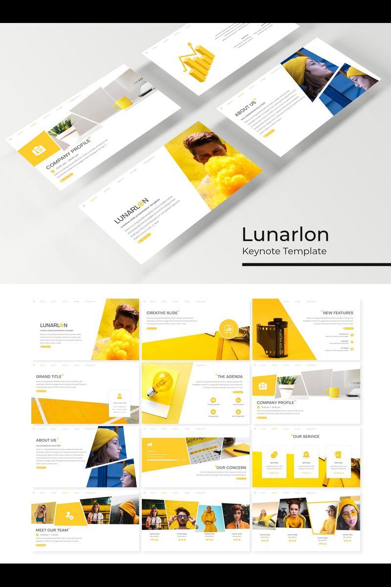 "Šablona pro Keynote ""Lunarlon"" #89409"
