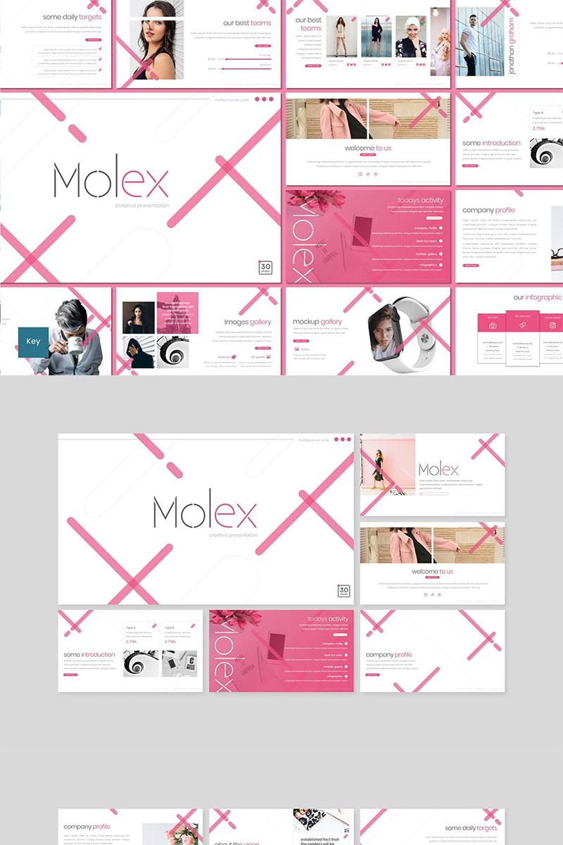 """Šablona pro Keynote """"Molex pink"""" #89485"""