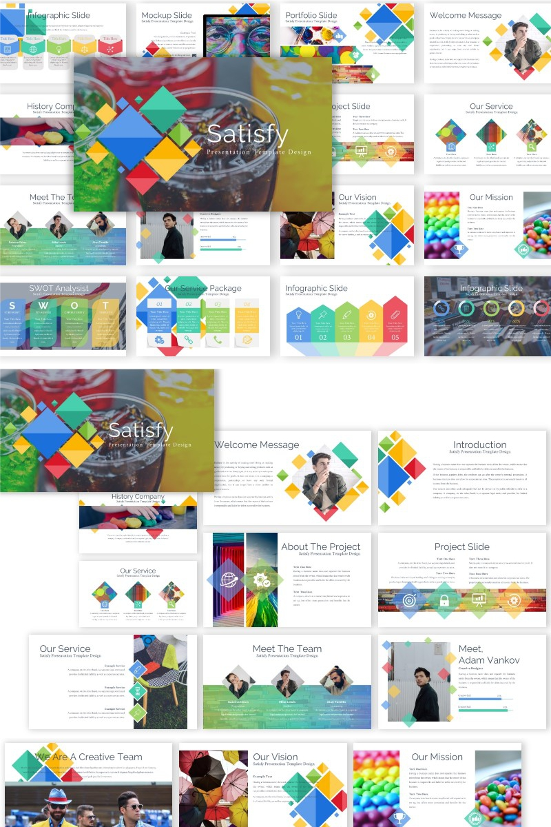 Satisfy Presentation PowerPoint Template