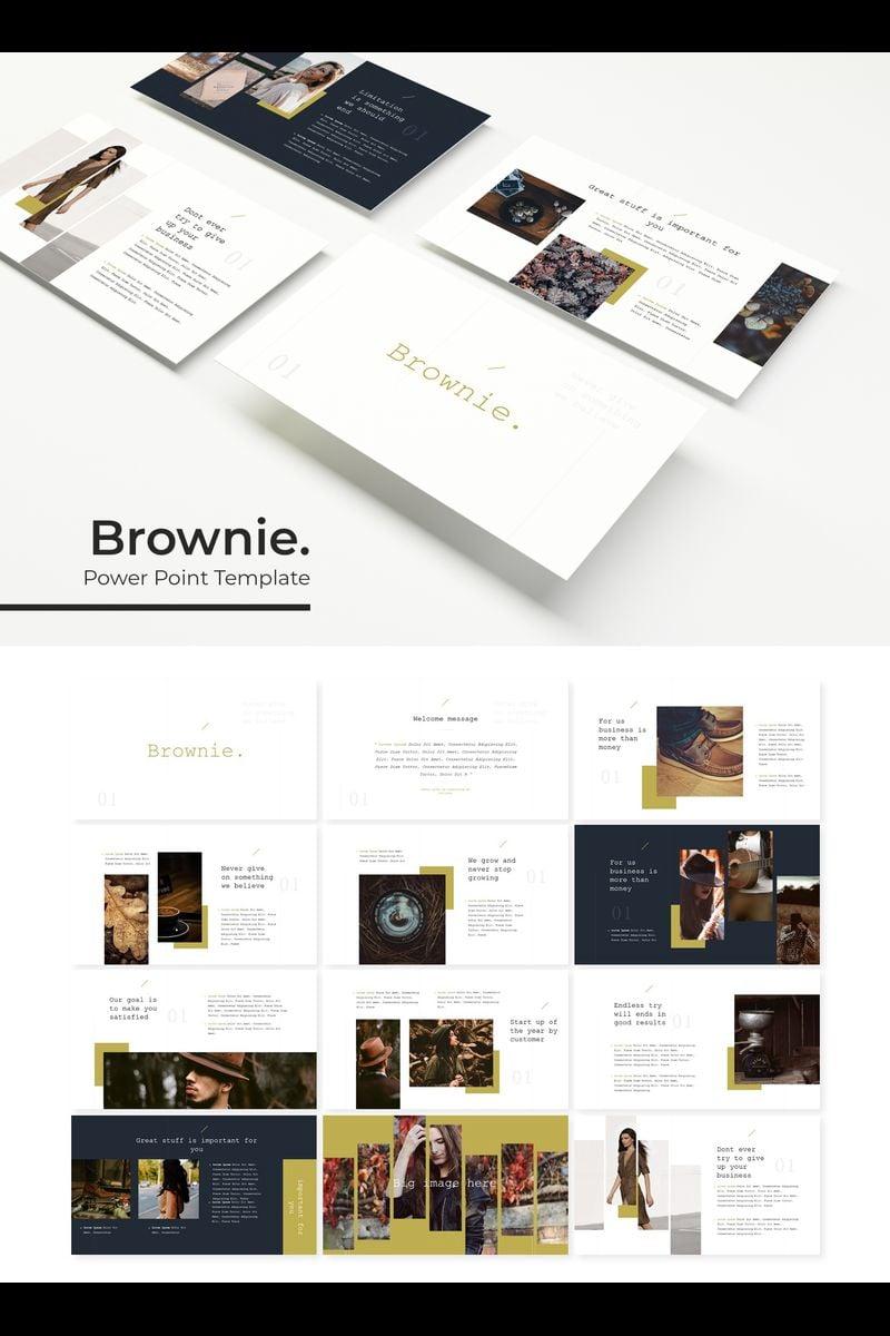 Szablon PowerPoint Brownie #89436