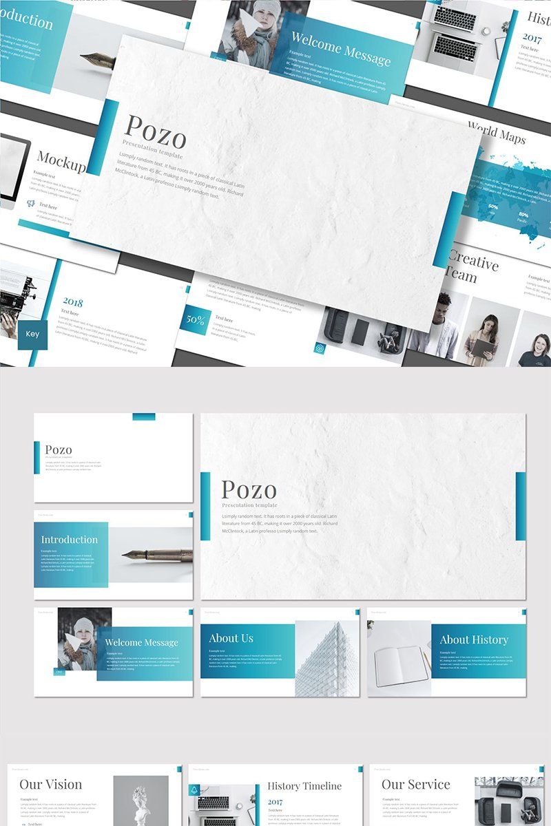 "Template Keynote #89473 ""Pozo"""