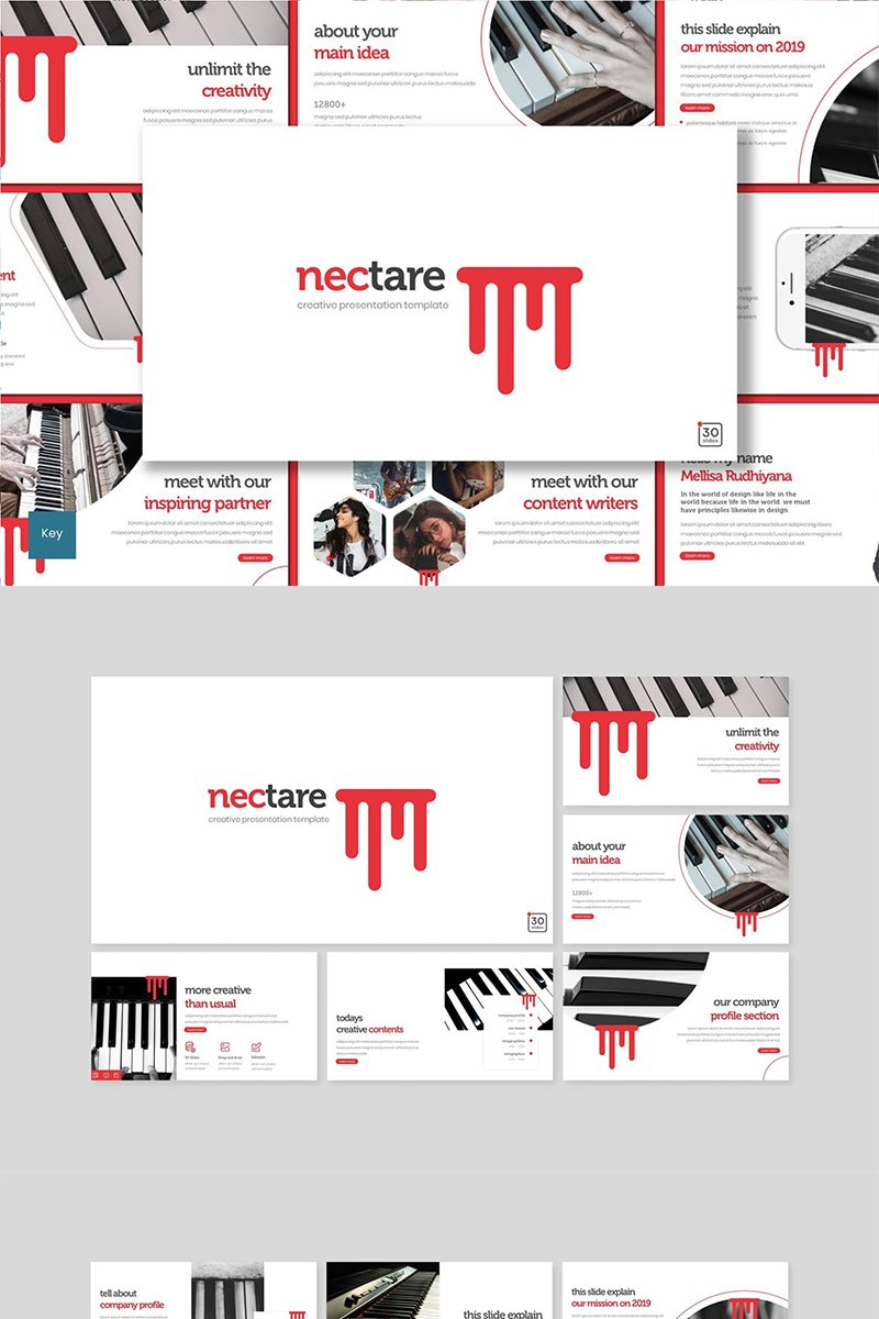 "Template Keynote #89479 ""Nectare"""
