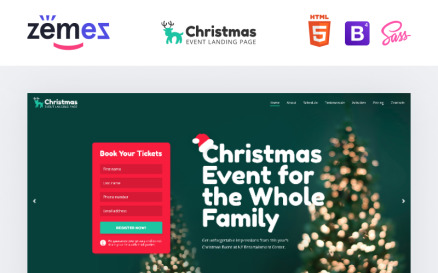 Lintense Christmas - Event Creative HTML Landing Page Template