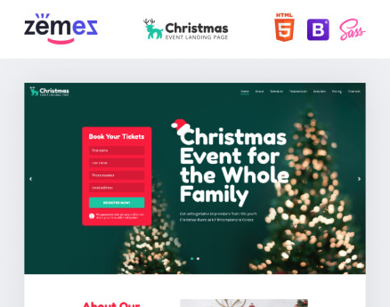 Lintense Christmas - Event Creative HTML Landing Page Template