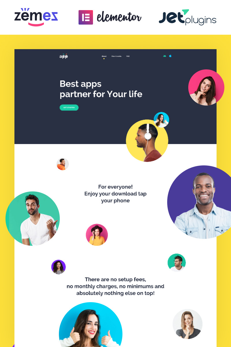 App - Software Template with Elementor Builder WordPress Theme