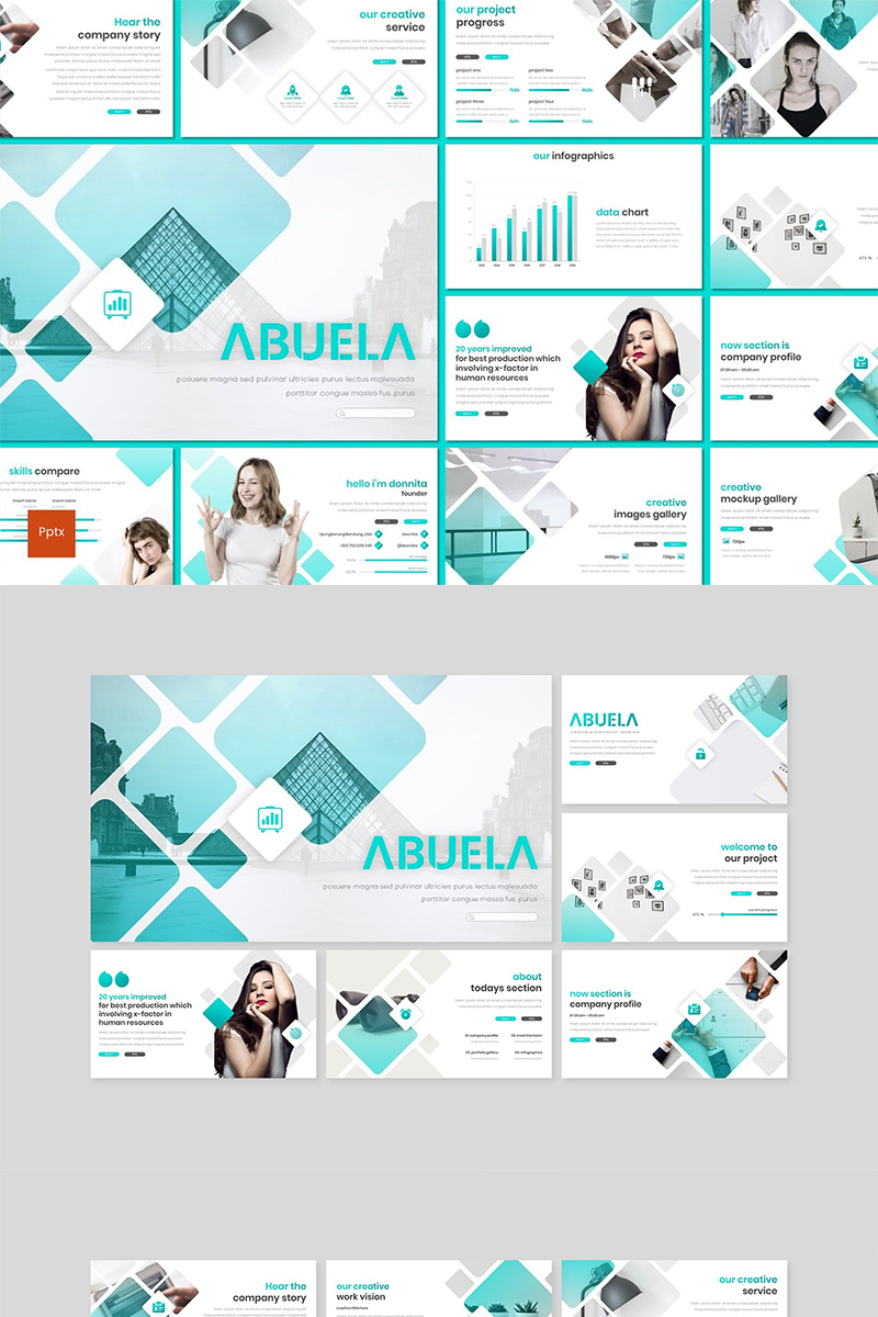 Abuela PowerPoint Template