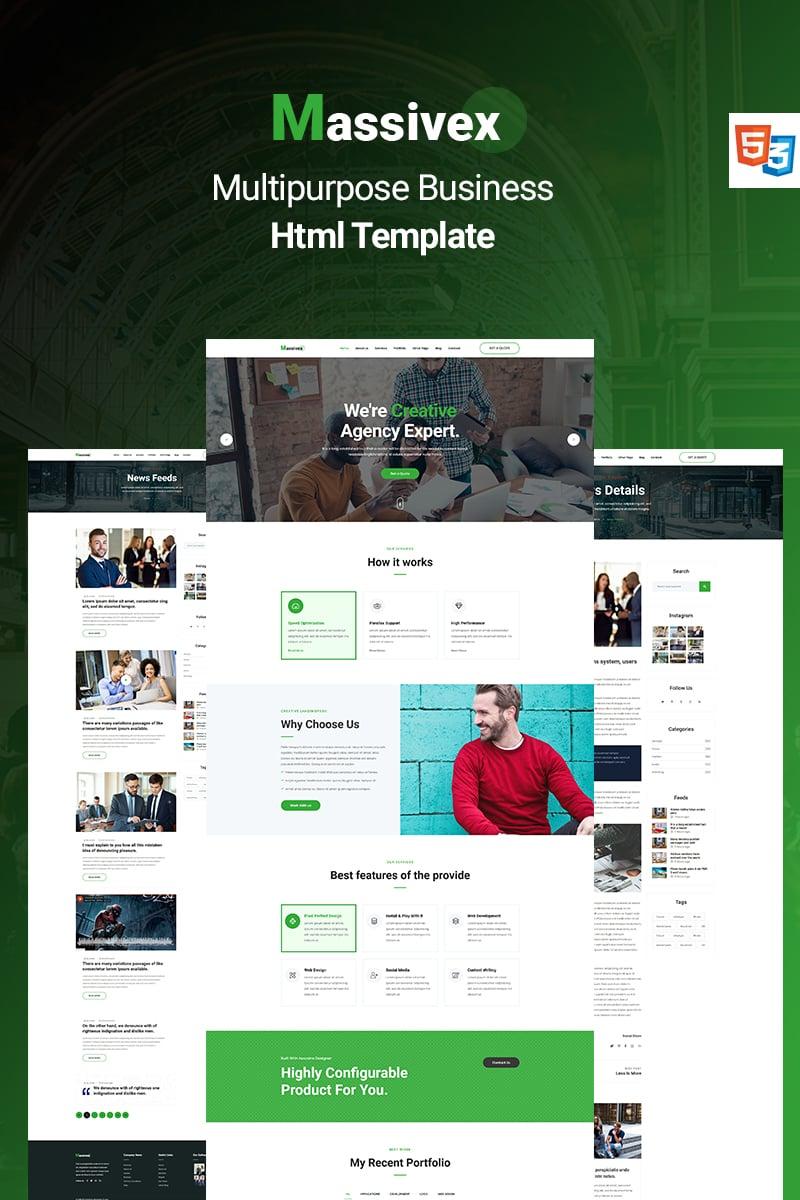 Bootstrap Massivex - Multipurpose Business Landing Page-mall #89585