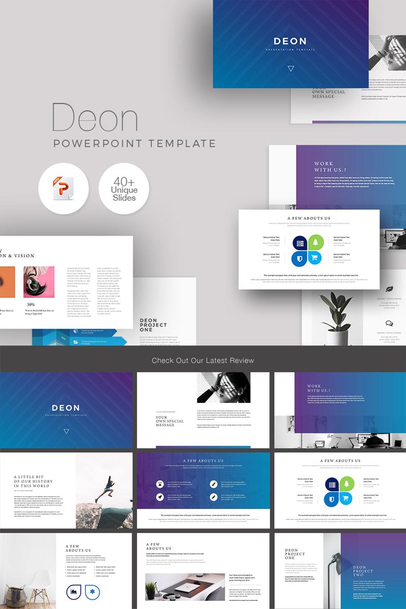 Deon Minimal Clean PowerPoint sablon 89596
