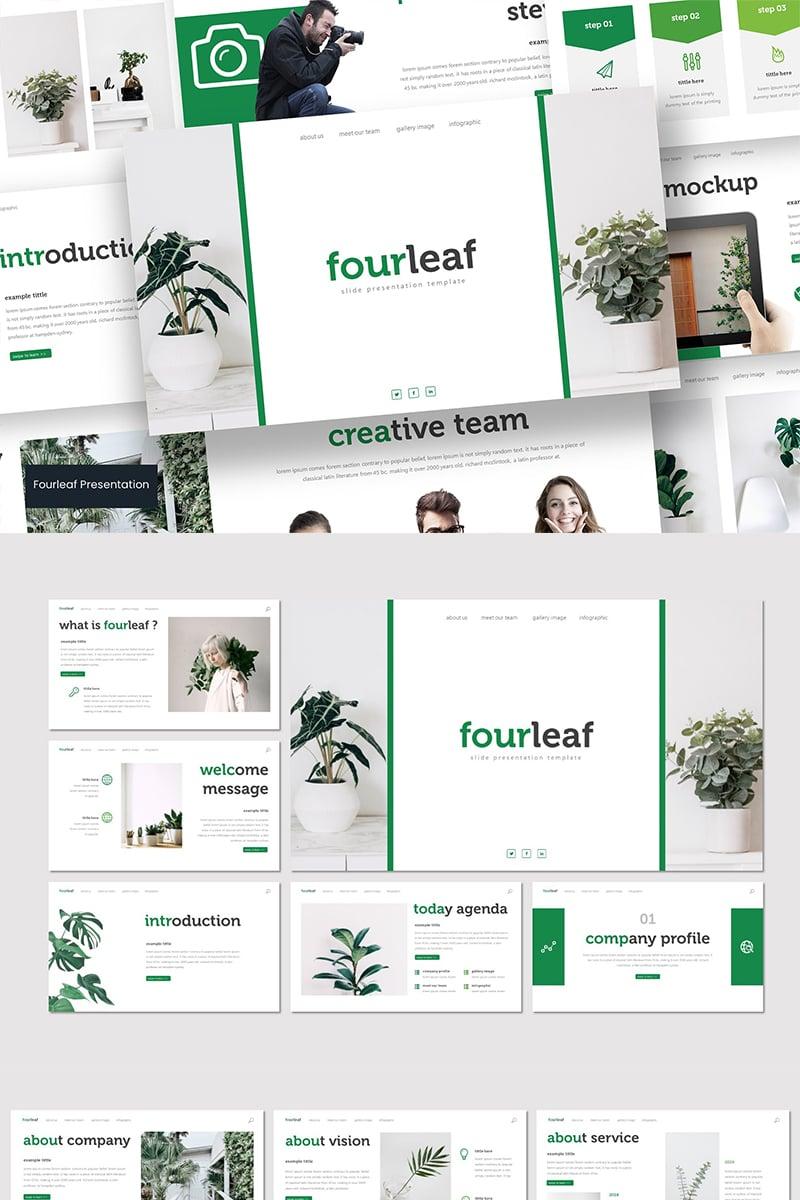 Fourleaf PowerPoint sablon 89581