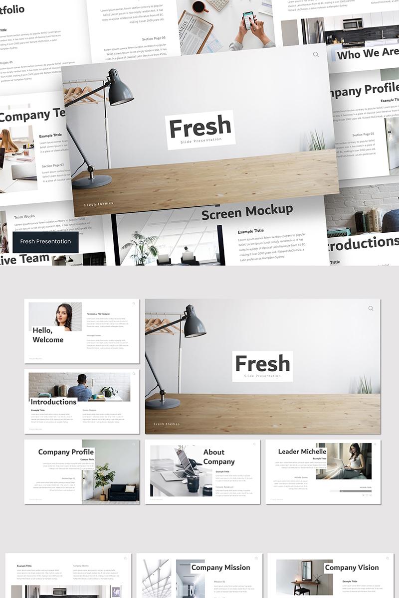 Fresh PowerPoint sablon 89580