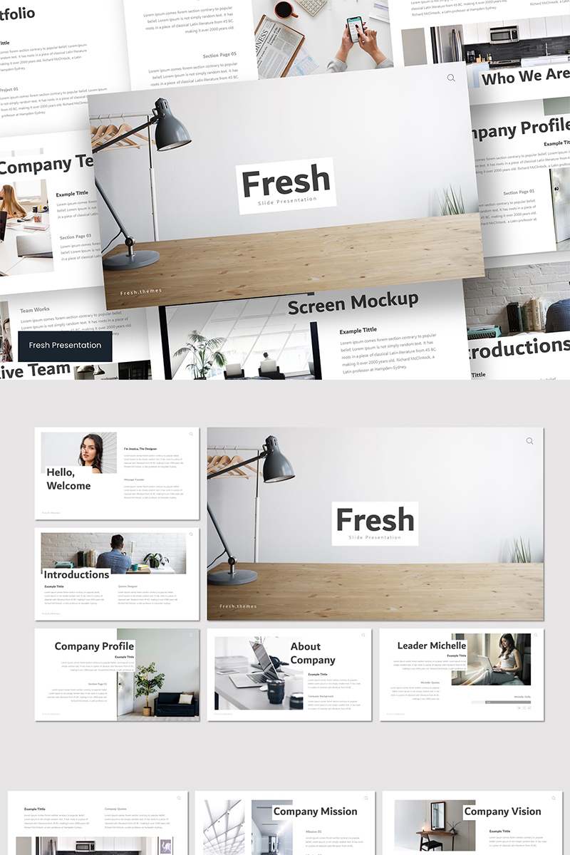 """Fresh"" PowerPoint Template №89580"