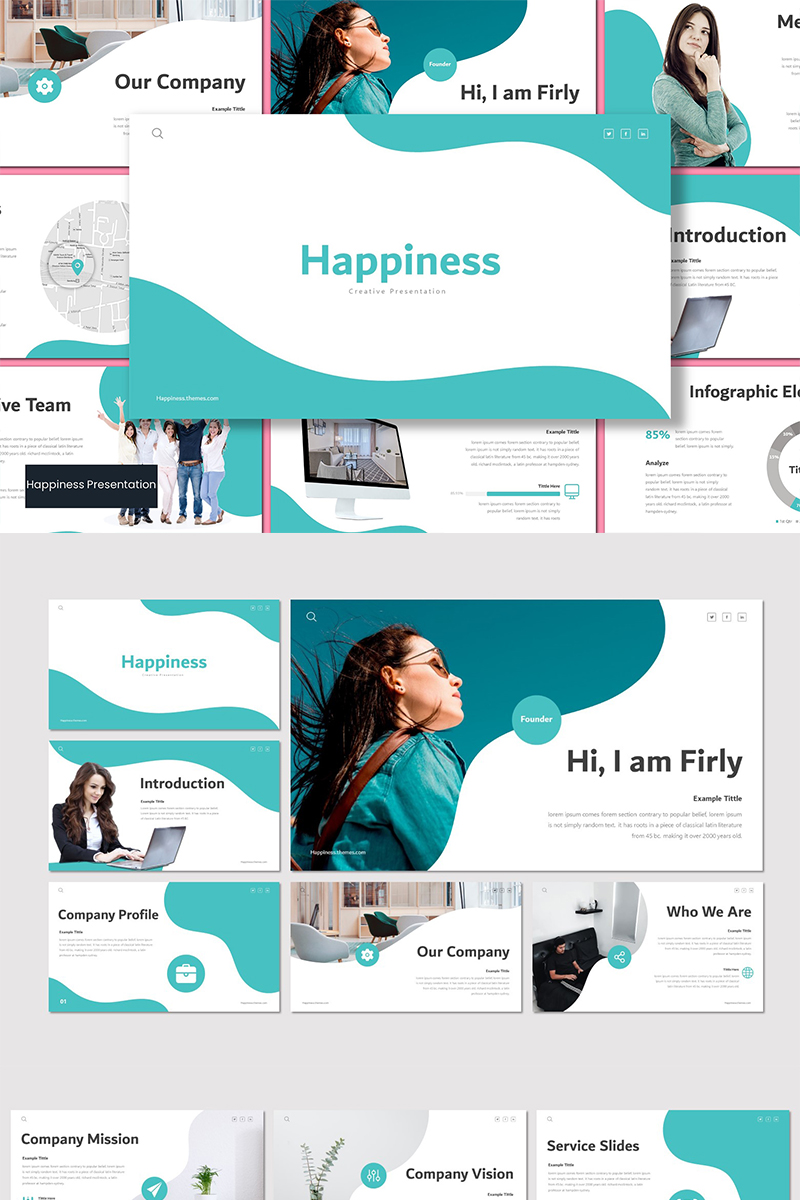 Happiness Template PowerPoint №89576