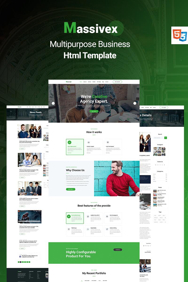 "Landing Page Template namens ""Massivex - Multipurpose Business"" #89585"