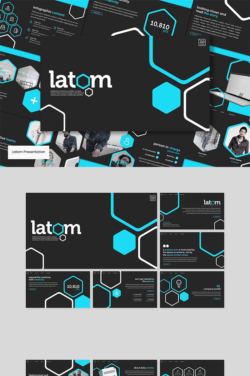 """""""Latom"""" modèle PowerPoint  #89571"""