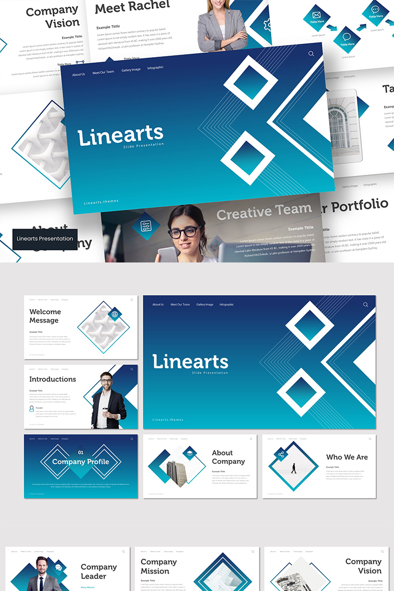 Linearts Template PowerPoint №89572