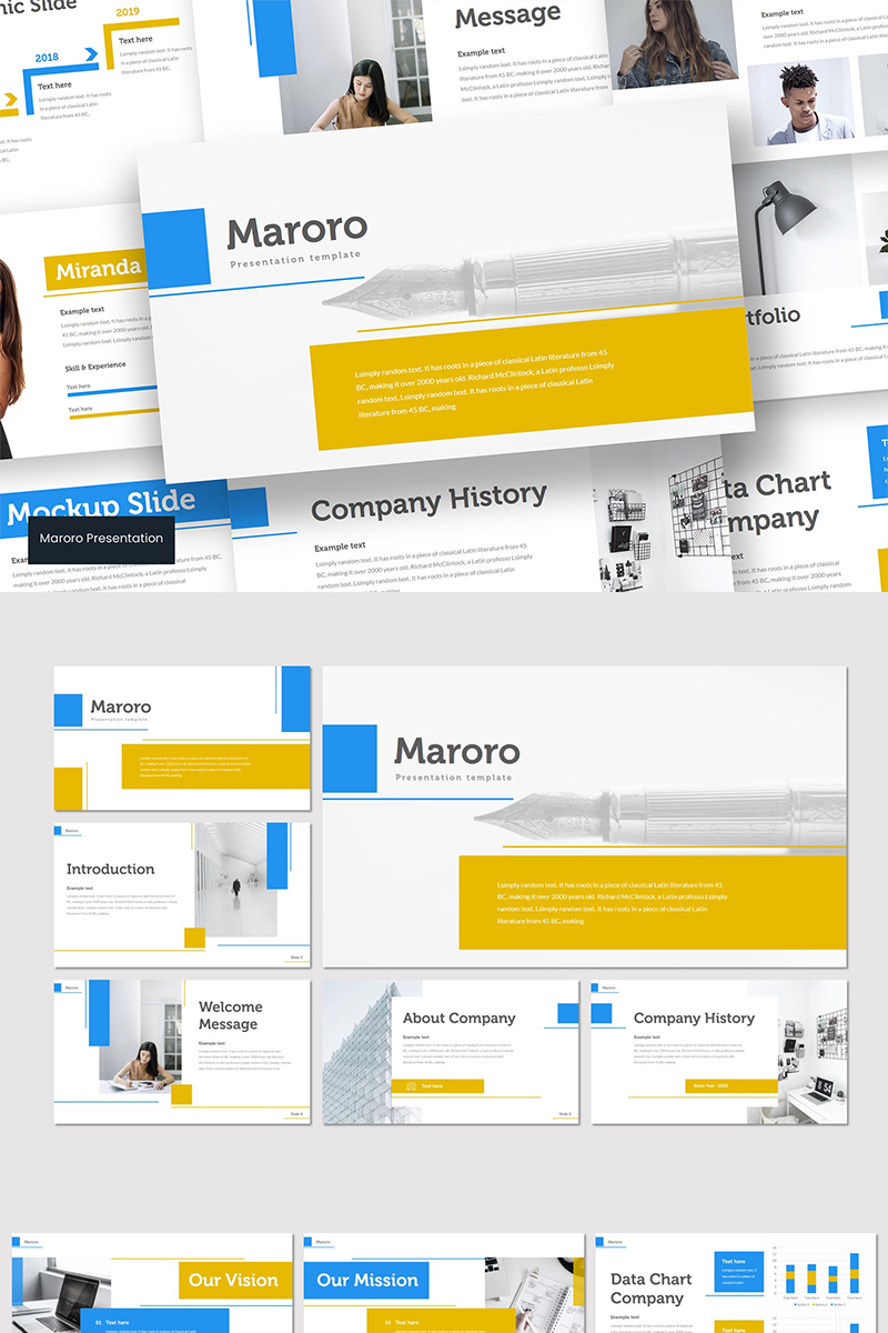 """Maroro"" modèle PowerPoint  #89567"