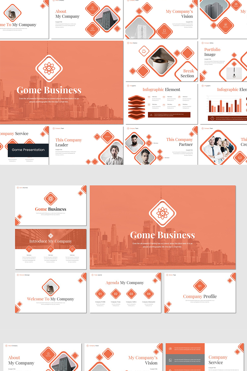 """me Business"" Keynote Template №89546"