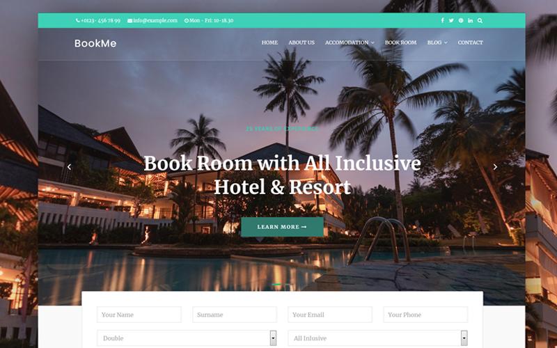 "Modello Joomla Responsive #89588 ""Booking Hotel&Villa"""