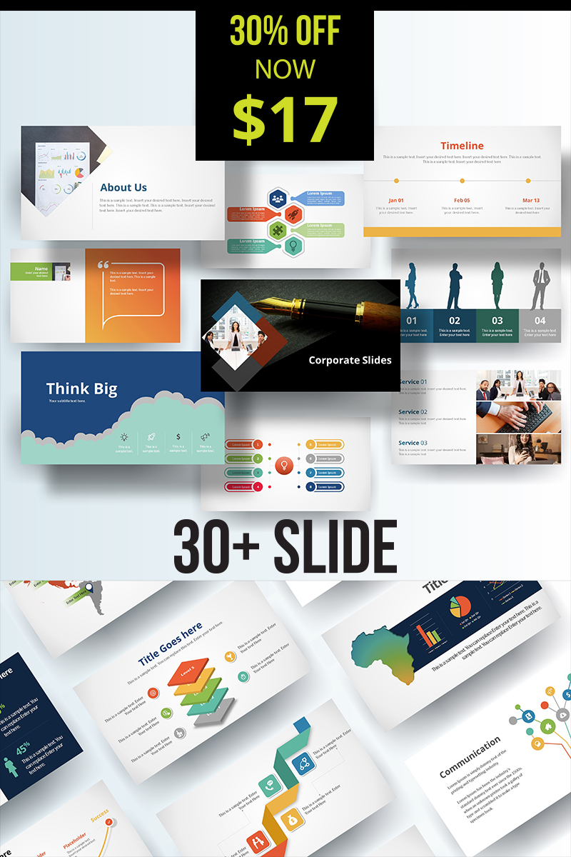 "Modello PowerPoint #89597 ""Business Grow Up Corporate"""