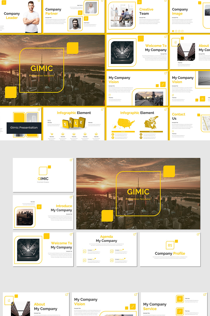 "PowerPoint Vorlage namens ""Gimic"" #89573"