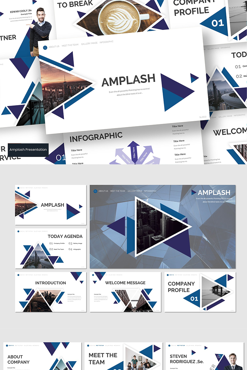 Szablon PowerPoint AMPLASH #89592