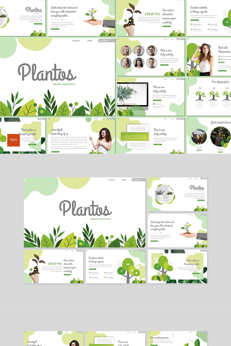 Szablon PowerPoint Plantos #89593