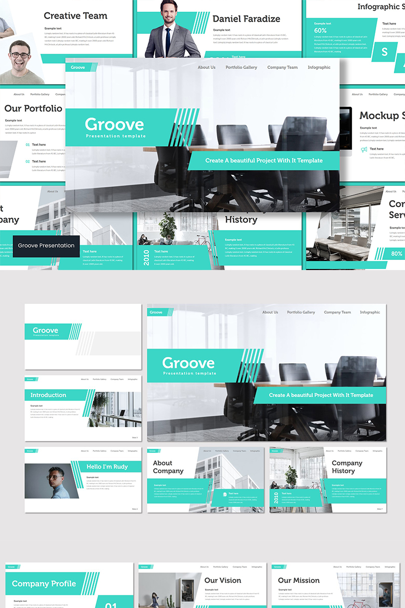 "Tema PowerPoint #89577 ""Groove"""