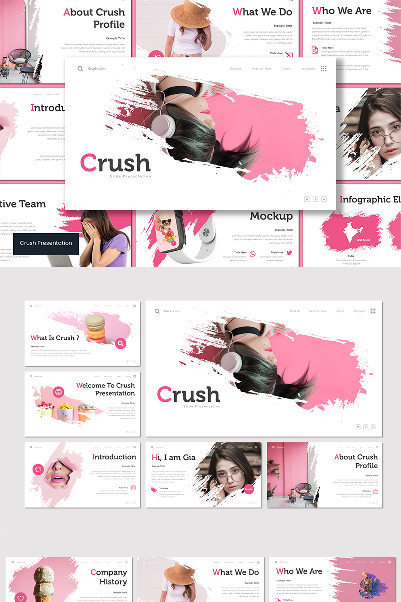 "Template Keynote #89554 ""Crush"""