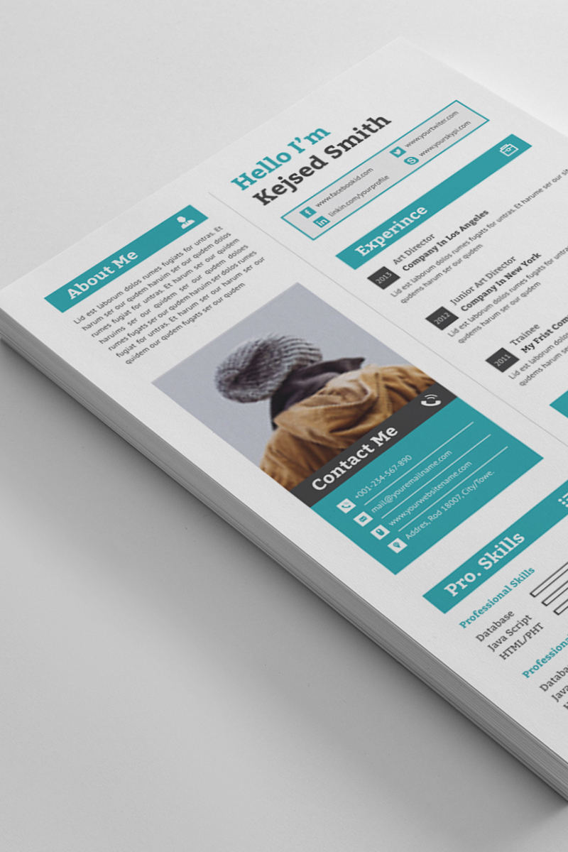 """Kejsed Smith Word"" CV Template №89678"