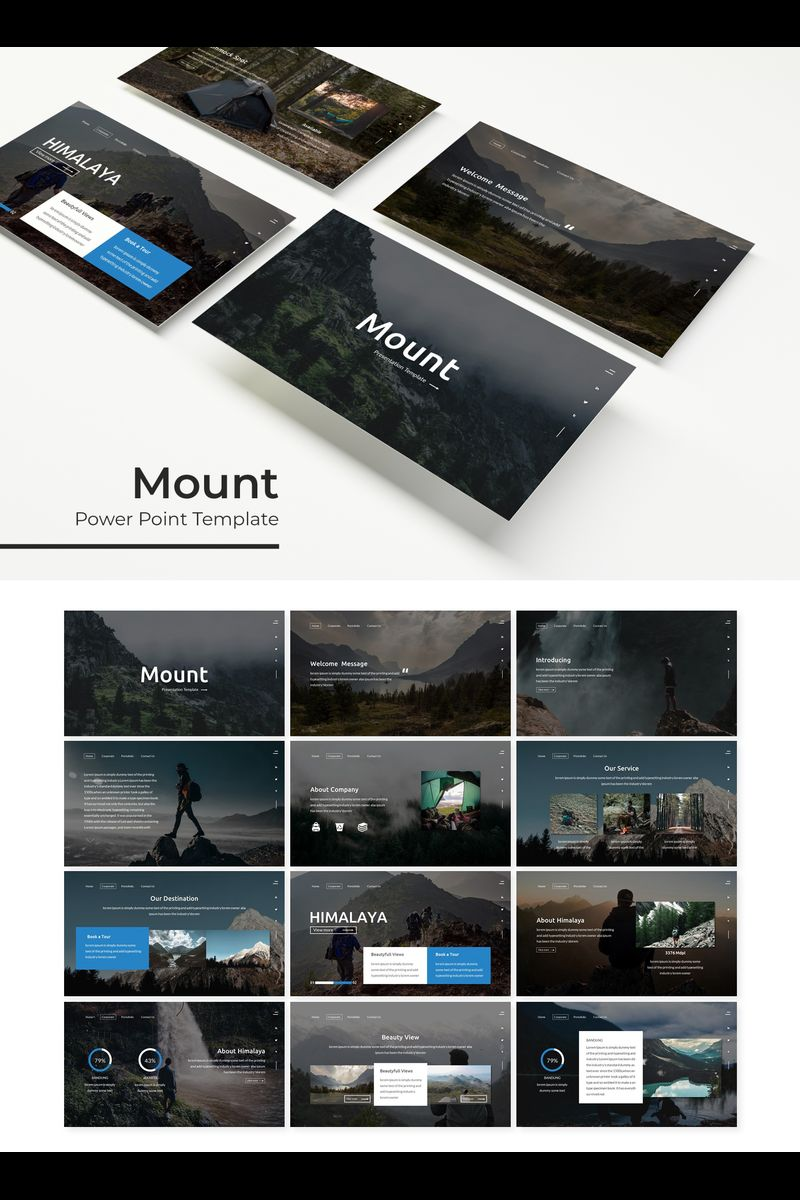 Mount Template PowerPoint №89694