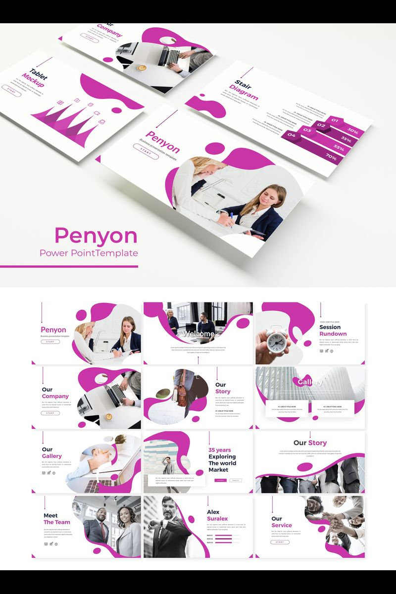 Penyon Template PowerPoint №89691