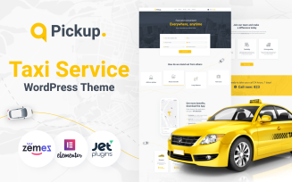Pickup - Fast And Reliable Taxi Service Website WordPress Theme