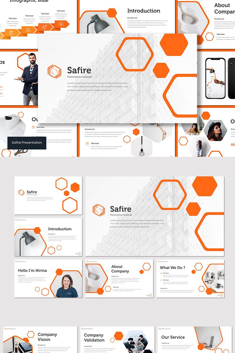 """PowerPoint Vorlage namens """"Safire"""" #89605"""