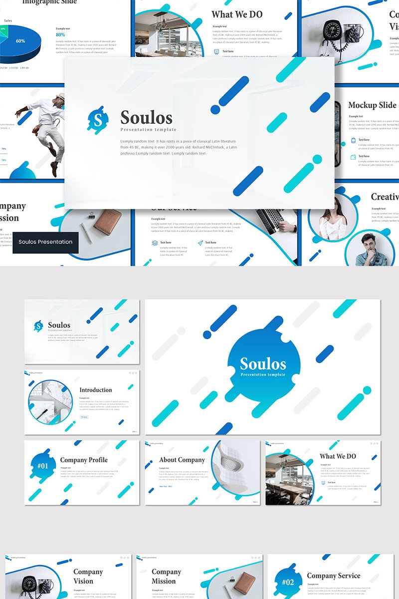 Soulos PowerPoint sablon 89601