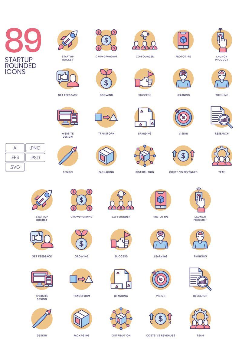 89 Startup Icons - Butterscotch Series Ikon csomag sablon 89626