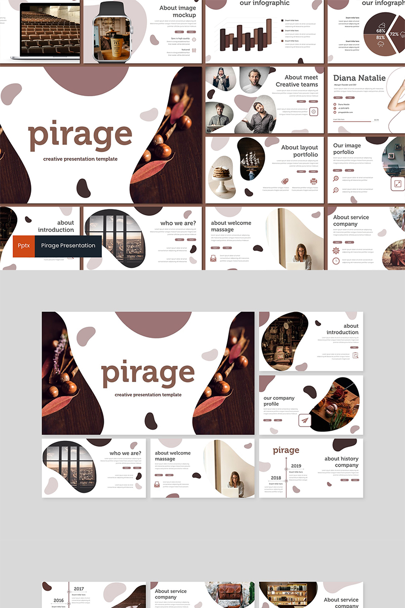 Szablon PowerPoint Pirage #89608