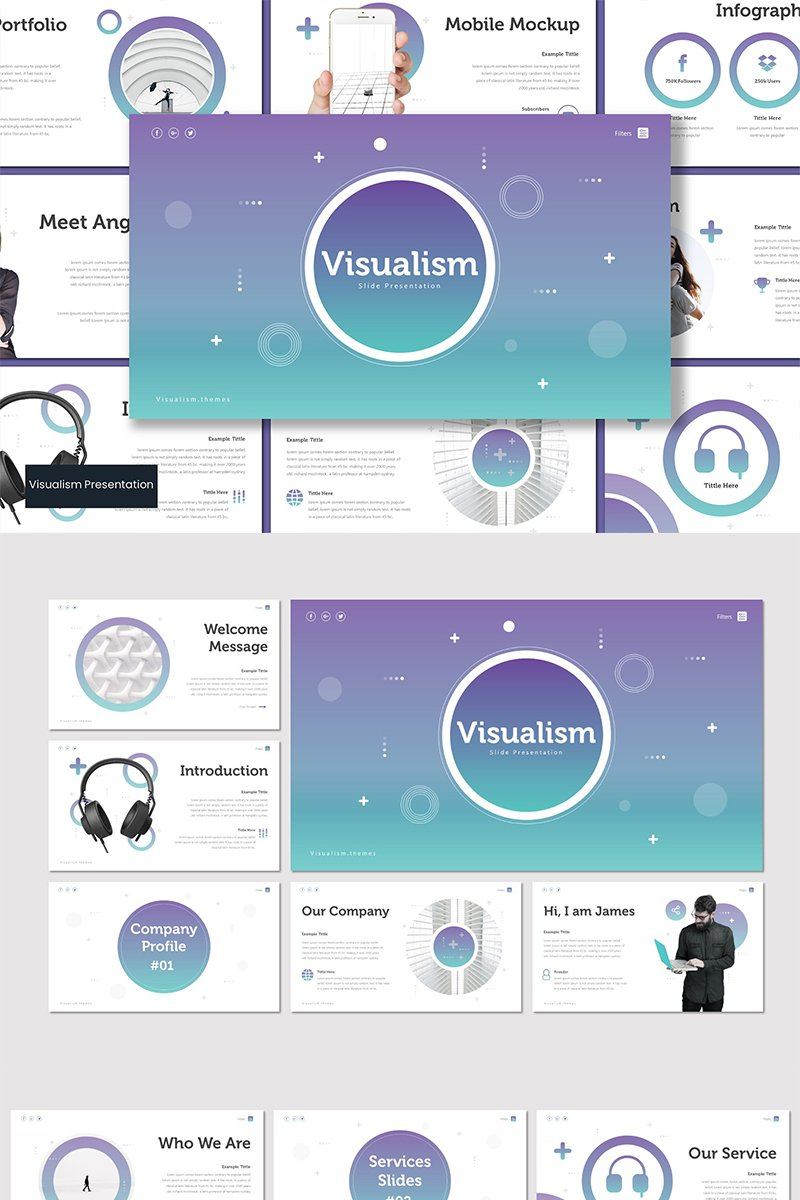Szablon PowerPoint Visualism #89602