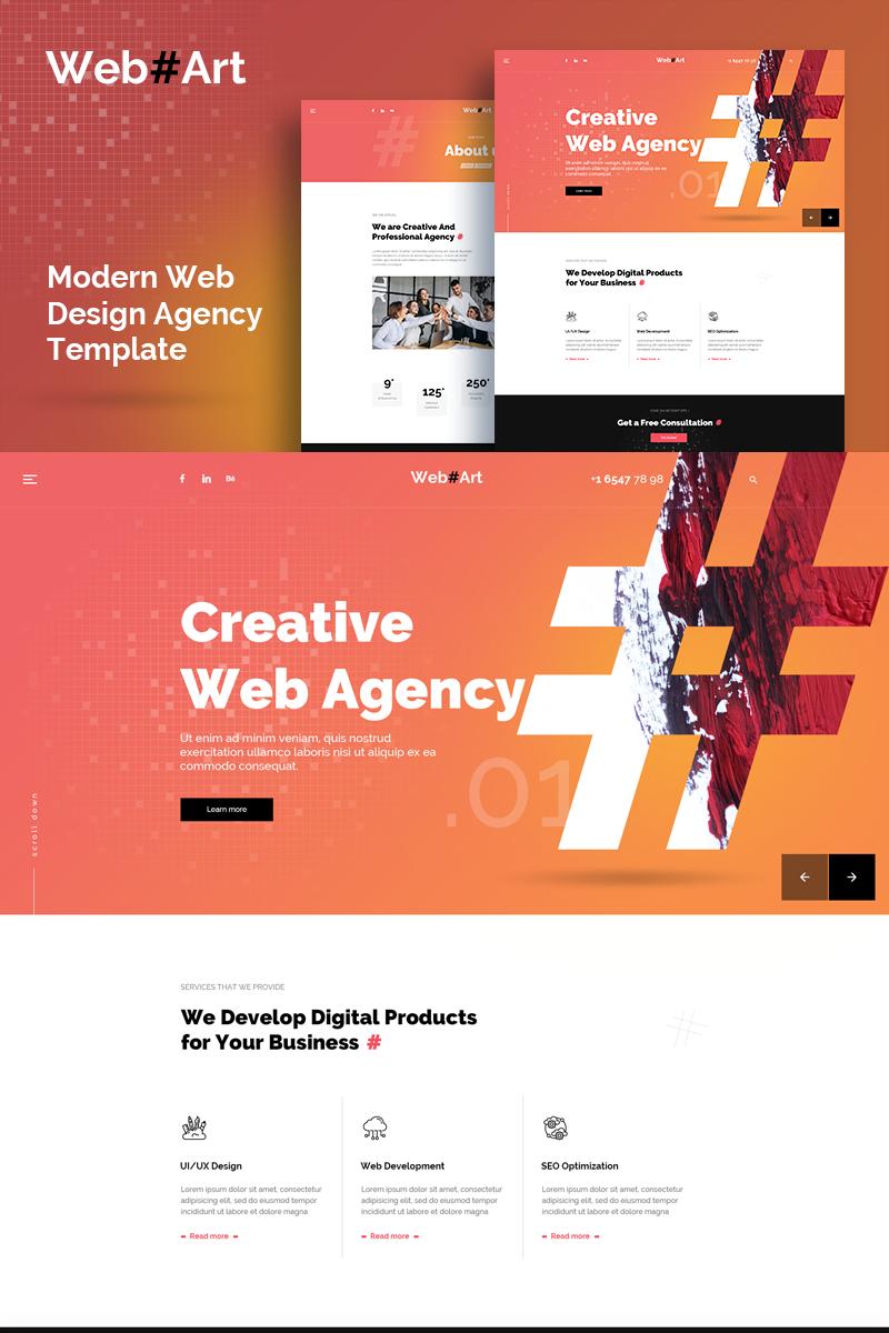 """WebArt - Web Design Simple Creative"" modèle PSD  #89651"