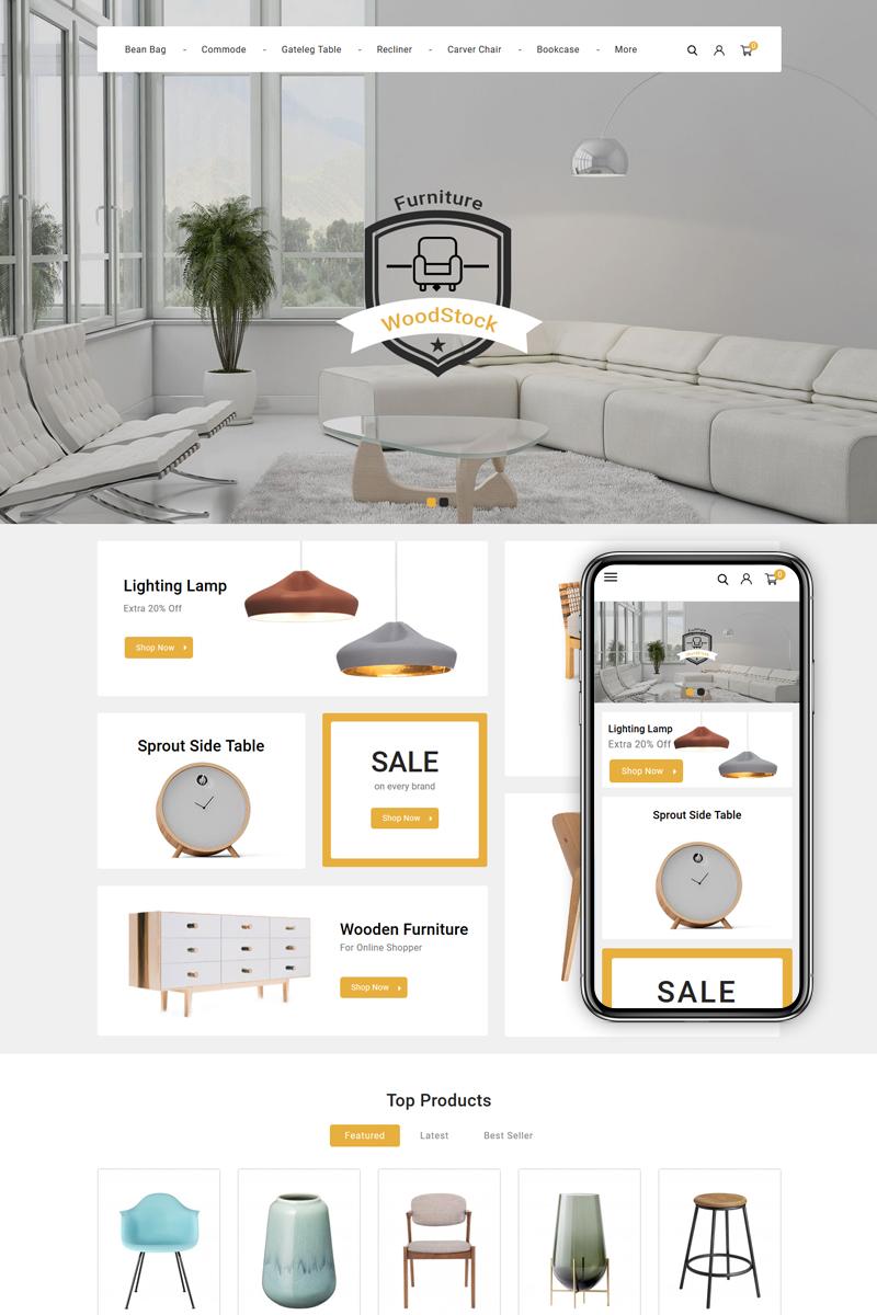 """WoodStock - Home Decor Store"" - адаптивний PrestaShop шаблон №89683"