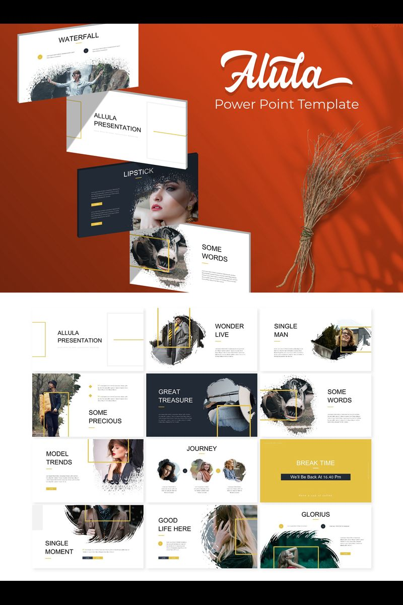"""Alula Brush"" PowerPoint Template №89796"