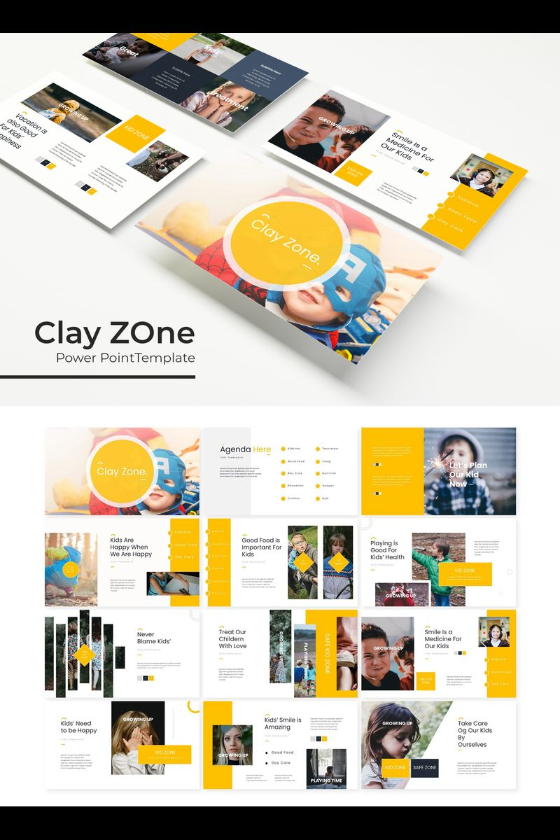 """Clayzone"" PowerPoint Template №89702"