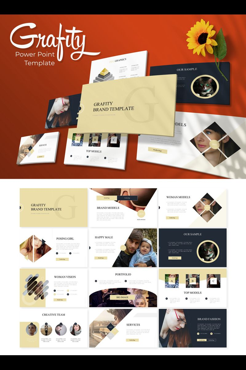 """Grafity"" PowerPoint Template №89795"