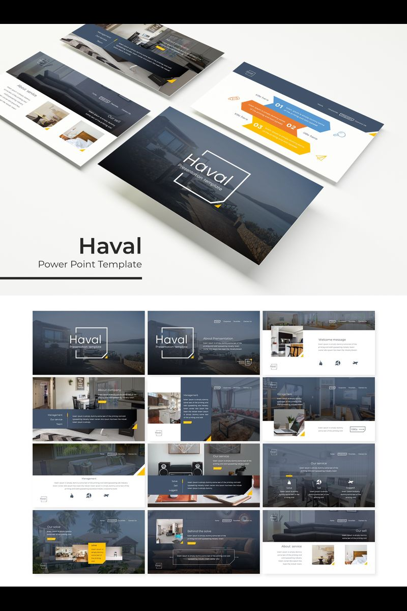 """Haval"" PowerPoint Template №89798"
