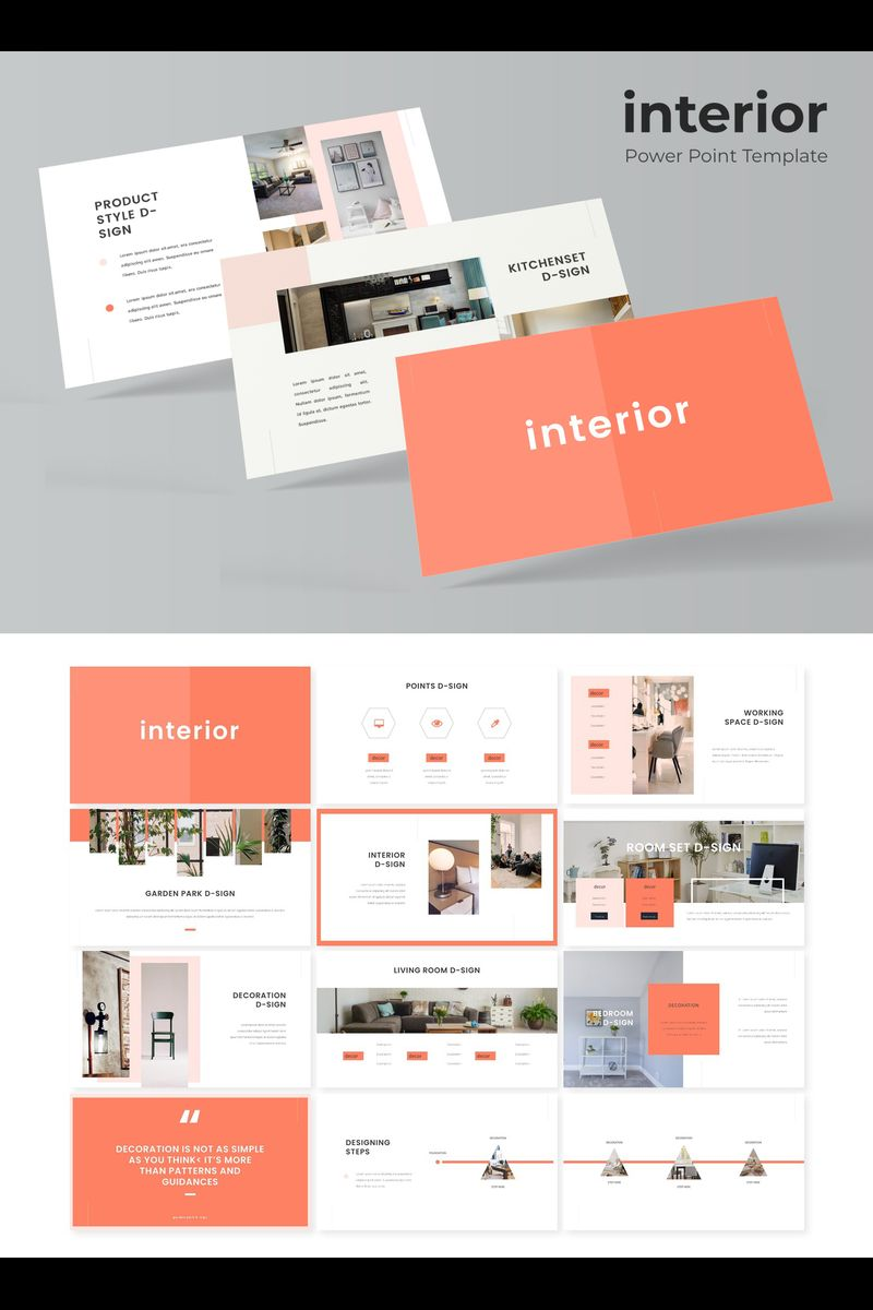 """Interior"" PowerPoint Template №89793"
