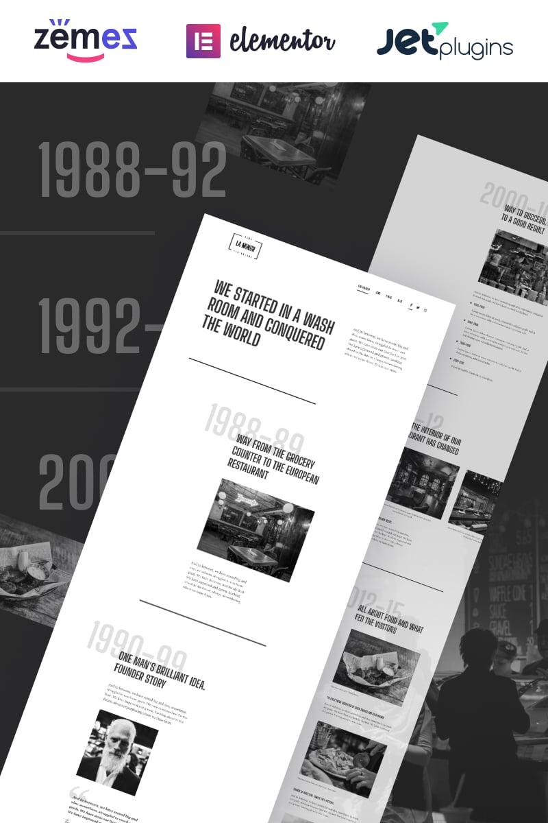 """La Minor - Minimalistic Black-and-white Storybrand"" - адаптивний WordPress шаблон №89766"