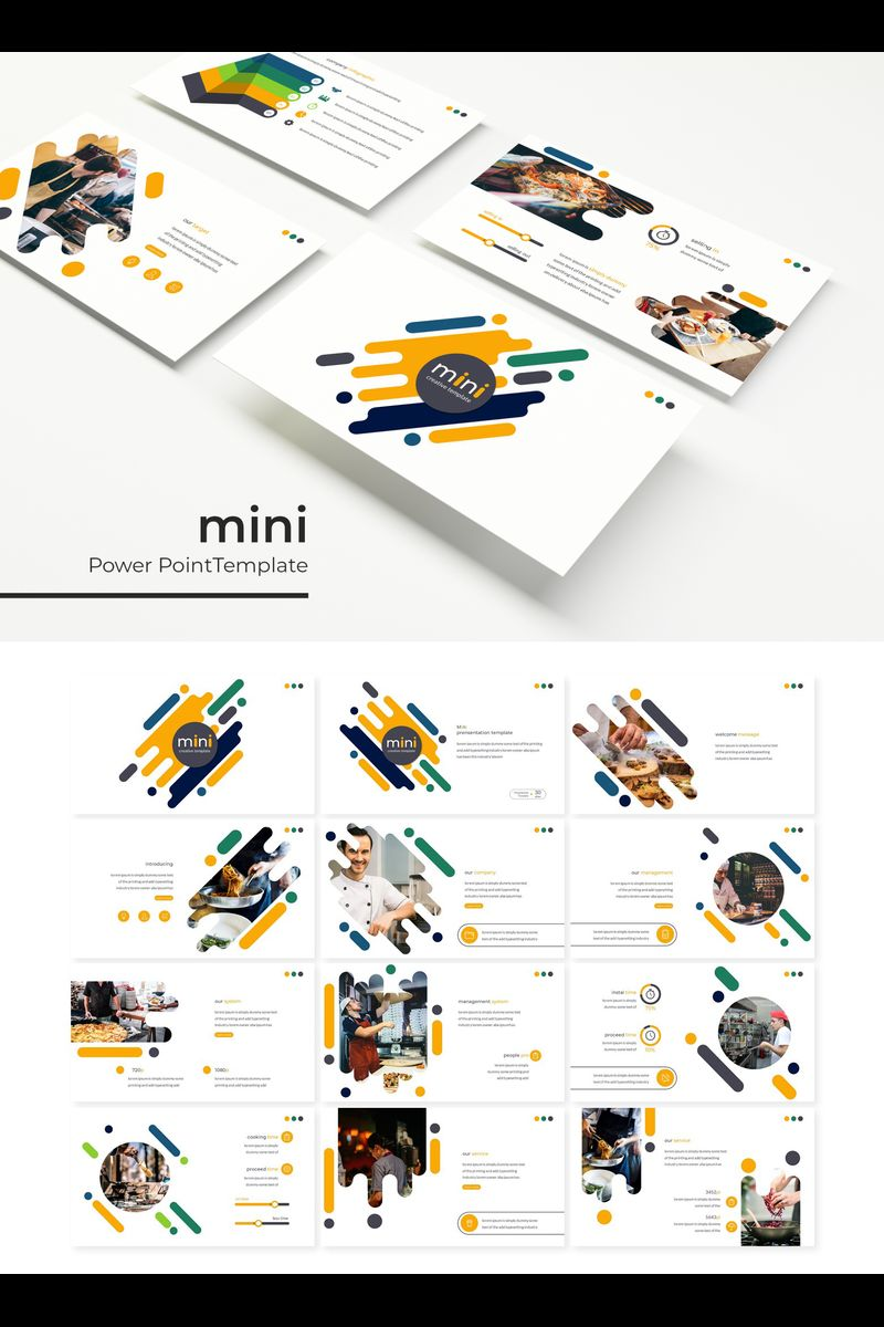 """Mini"" PowerPoint Template №89797"