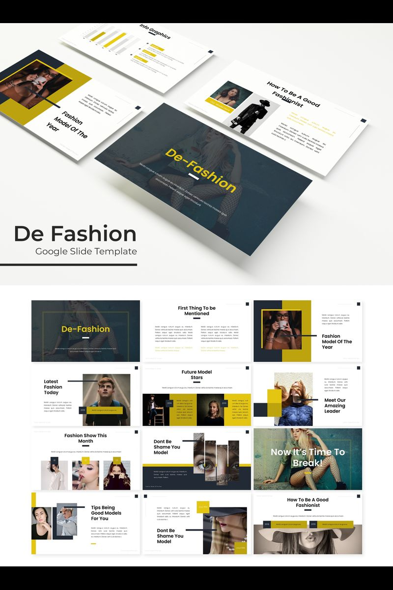 "Modello Google Slides #89720 ""De Fashion"""