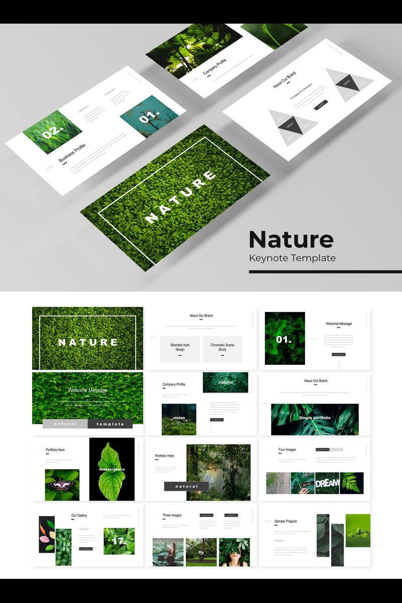 "Šablona pro Keynote ""Nature"" #89752"