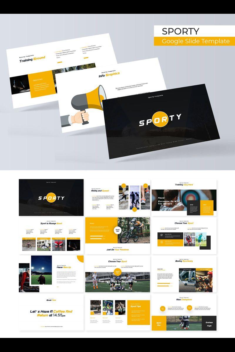 """Sporty"" google Slides  #89707"